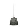 This item: Paramount Matte Black and Brushed Nickel One-Light Pendant with Black Matrix Glass Shade