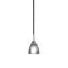 This item: Paramount Matte Black and Brushed Nickel One-Light Mini Pendant with Clear Ribbed Glass Shade