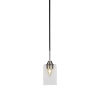 This item: Paramount Matte Black and Brushed Nickel Four-Inch One-Light Mini Pendant with Clear Bubble Glass Shade