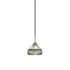 This item: Paramount Matte Black and Brushed Nickel One-Light Mini Pendant with Royal Merlot Art Glass Shade