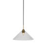 This item: Paramount Matte Black and Brass 16-Inch One-Light Pendant with Clear Bubble Shade