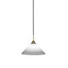This item: Paramount Matte Black and Brass 12-Inch One-Light Pendant with White Muslin Shade