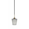 This item: Paramount Matte Black and Brass Six-Inch One-Light Mini Pendant with Gray Matrix Shade