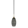 This item: Paramount Matte Black Six-Inch One-Light Mini Pendant with Black Matrix Shade