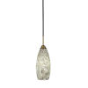 This item: Paramount Matte Black and Brass Six-Inch One-Light Mini Pendant with Natural Fusion Shade