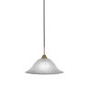 This item: Paramount Matte Black and Brass 16-Inch One-Light Pendant with White Marble Shade