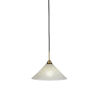 This item: Paramount Matte Black and Brass 12-Inch One-Light Pendant with Gold Ice Shade