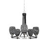 This item: Paramount Matte Black and Brushed Nickel 23-Inch Five-Light Chandelier