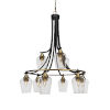 This item: Paramount Matte Black and Brass 30-Inch Nine-Light Chandelier