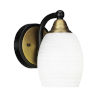 This item: Paramount Matte Black and Brass Five-Inch One-Light Wall Sconce