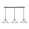 This item: Any Brushed Nickel 12-Inch Three-Light Pendant with Italian Bubble Glass