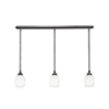 This item: Any Brushed Nickel 38-Inch Three-Light Pendant with White Linen Glass