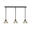 This item: Any Bronze 39-Inch Three-Light Pendant with Amber Crystal Glass