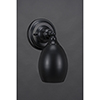 This item: Any Matte Black Five-Inch One-Light Wall Sconce with Oval Metal Shade