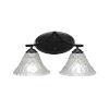 This item: Zilo Matte Black Two-Light Bath Vanity with Italian Bubble Glass