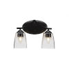 This item: Zilo Matte Black Five-Inch Two-Light Bath Vanity with White Muslin Glass