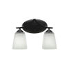 This item: Zilo Matte Black Five-Inch Two-Light Bath Vanity with Clear Bubble Glass