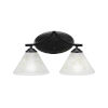 This item: Zilo Matte Black Seven-Inch Two-Light Bath Vanity with Gold Ice Glass