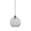 This item: Kimbro Brushed Nickel One-Light Pendant with Smoke Bubble Glass Shade