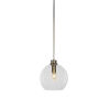 This item: Kimbro New Age Brass One-Light Mini Pendant with Clear Bubble Glass Shade