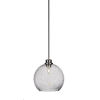 This item: Kimbro Brushed Nickel One-Light 10-Inch Stem Hung Mini Pendant with Smoke Bubble Glass