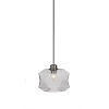 This item: Rocklin Brushed Nickel One-Light 8-Inch Stem Hung Mini Pendant with Smoke Glass