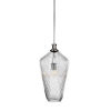 This item: Carina Brushed Nickel One-Light 20-Inch Stem Hung Pendant with Clear Ribbed Glass