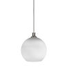 This item: Carina Brushed Nickel One-Light 14-Inch Stem Hung Pendant with Opal Frosted Glass