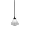 This item: Juno Matte Black One-Light Mini Pendant with White Marble Glass Shade