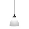 This item: Juno Matte Black One-Light 14-Inch Stem Hung Pendant with White Marble Glass