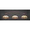 This item: Bow Bronze 16-Inch Three-Light Island Pendant with Roman Jewel Tiffany Glass