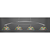 This item: Bow Brushed Nickel 19-Inch Four-Light Island Pendant