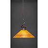 This item: Capri Dark Granite 16-Inch One-Light Pendant