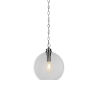 This item: Kimbro Brushed Nickel One-Light Pendant with Clear Bubble Glass Shade