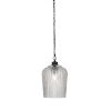 This item: Cordova Matte Black One-Light Mini Pendant with Clear Textured Glass Shade