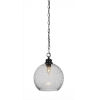 This item: Kimbro Matte Black One-Light 12-Inch Chain Hung Mini Pendant with Smoke Bubble Glass