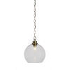This item: Kimbro New Age Brass One-Light 12-Inch Chain Hung Mini Pendant with Clear Bubble Glass