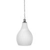 This item: Carina Brushed Nickel 12-Inch One-Light Pendant with Opal Frosted Glass Shade