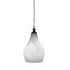 This item: Carina Matte Black One-Light 21-Inch Chain Hung Pendant with Opal Frosted Glass