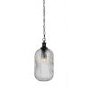 This item: Carina Matte Black One-Light 17-Inch Chain Hung Mini Pendant with Clear Ribbed Glass