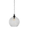 This item: Carina Matte Black 13-Inch One-Light Pendant with Clear Ribbed Glass Shade
