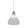 This item: Juno Brushed Nickel 16-Inch One-Light Pendant with White Marble Glass Shade