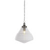 This item: Juno Brushed Nickel One-Light Pendant with Clear Bubble Glass Shade