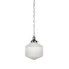 This item: Carina Brushed Nickel 10-Inch One-Light Pendant with Opal Frosted Glass Shade