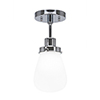 This item: Meridian Chrome One-Light Semi Flush Mount with White Glass