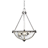 This item: Uptowne Aged Silver Three-Light Pendant with Clear Bubble Glass