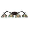 This item: Zilo Dark Granite Four-Light Bath Vanity with Kaleidoscope Tiffany Glass
