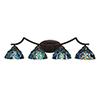 This item: Zilo Dark Granite Four-Light Bath Vanity with Blue Mosaic Tiffany Glass