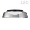 This item: Crawford Matte Black with Smoke LED Flush Mount