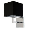This item: Polished Chrome with Black One-Light Wall Sconce